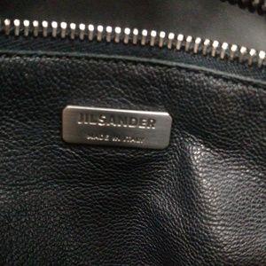 Jil Sander Bags - Jil Sander Men's Black Leather Key & Lock Tote Bag